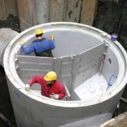 Fitting a pre-fabricated chamber with pre-installed stainless steel components (HydroStyx Discharge Brake)