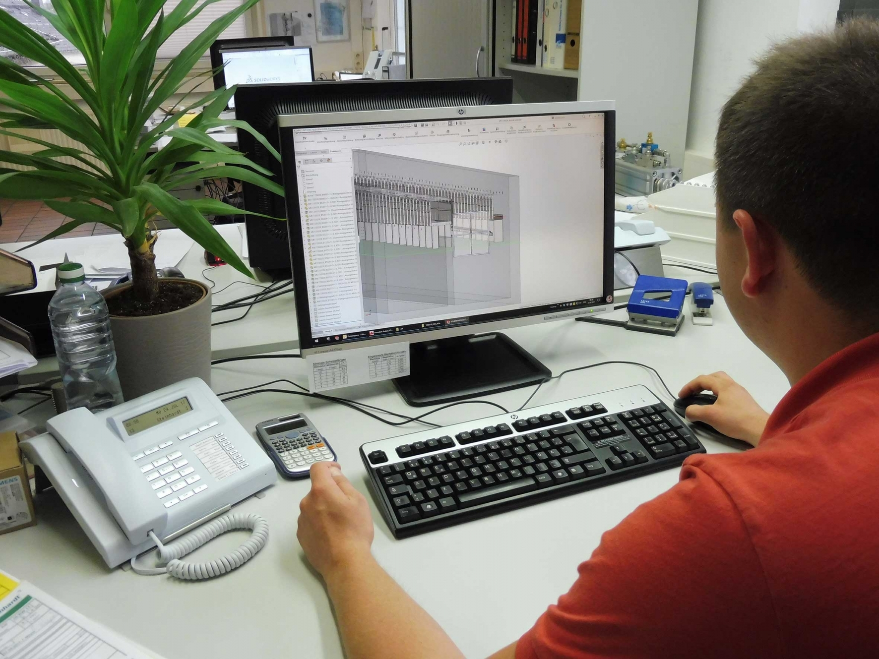 On-site production facilitates an effective, flexible workflow and manufacturing process