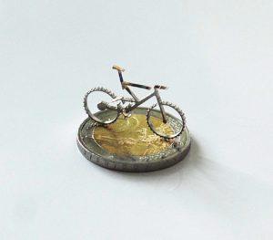 Edelstahl-Fahrrad