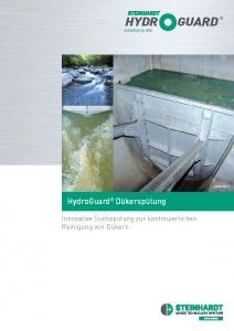 Flyer HydroGuard Dükerspülung Titel