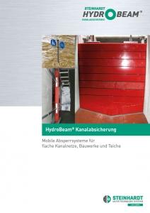 Flyer HydroBeam Kanalabsicherung Titel