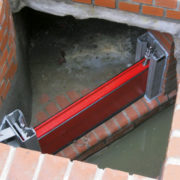 HydroBeam Sicherung eines Notüberlaufs