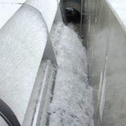 HydroClean Bürstenrechen im Betrieb