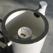 HydroFlush mit V2A-Spülbehälter für die Hausinstallation