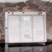 The top-hinged HydroLatch® flood gates Model HLA-HK