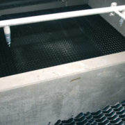 HydroSeparator lamella module, trickle filter (behind) and cleaning system
