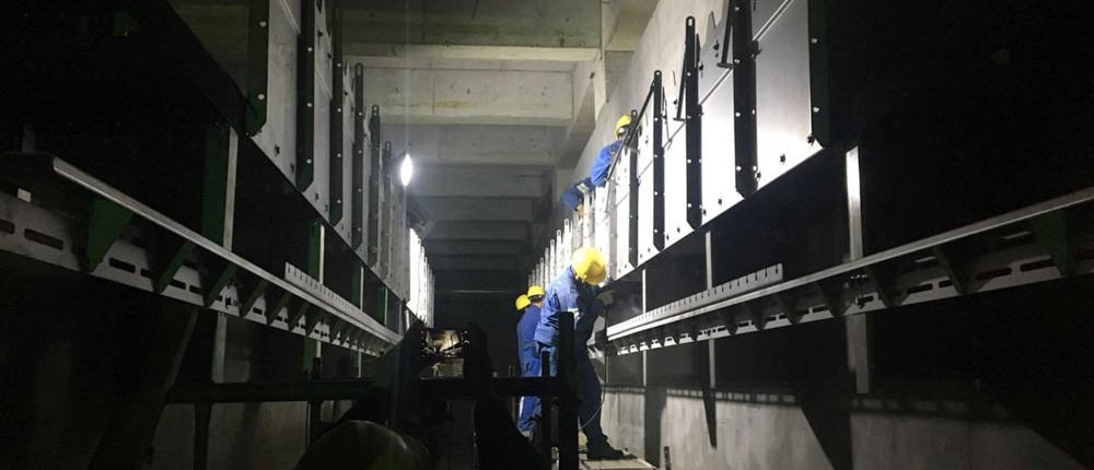 Arbeiten an der HydroMESI Pilotanlage in Chizhou - China