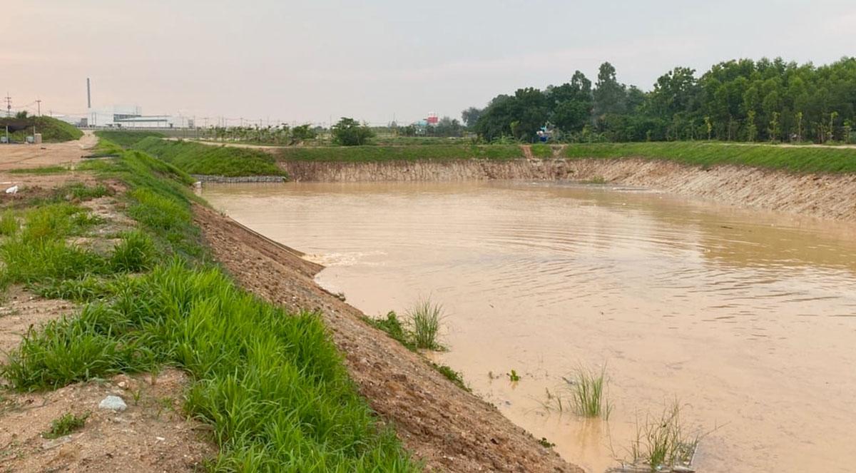 Regenüberlaufbecken in Thailand, Provinz Provinz Chonburi