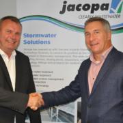 Dipl.-Ing Jörg Steinhardt und Alex Lloyd, Managing Director von Jacopa.