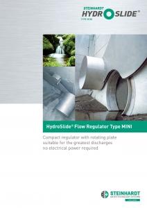 Title Flyer HydroSlide Flow Regulator Type MINI