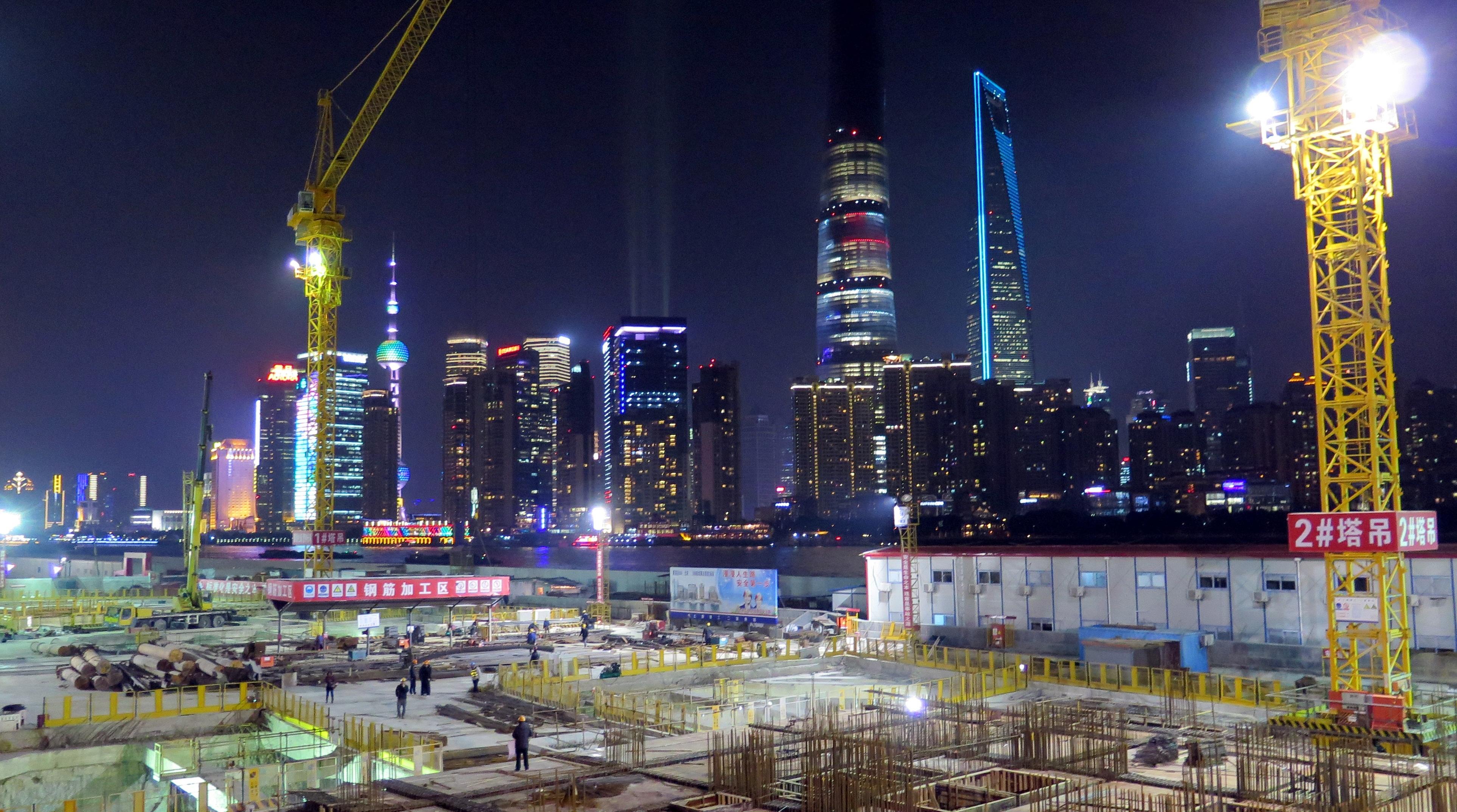 Building site in Shanghai
